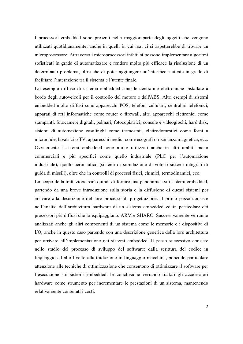 Anteprima della tesi: Principi di progetto di sistemi embedded, Pagina 2