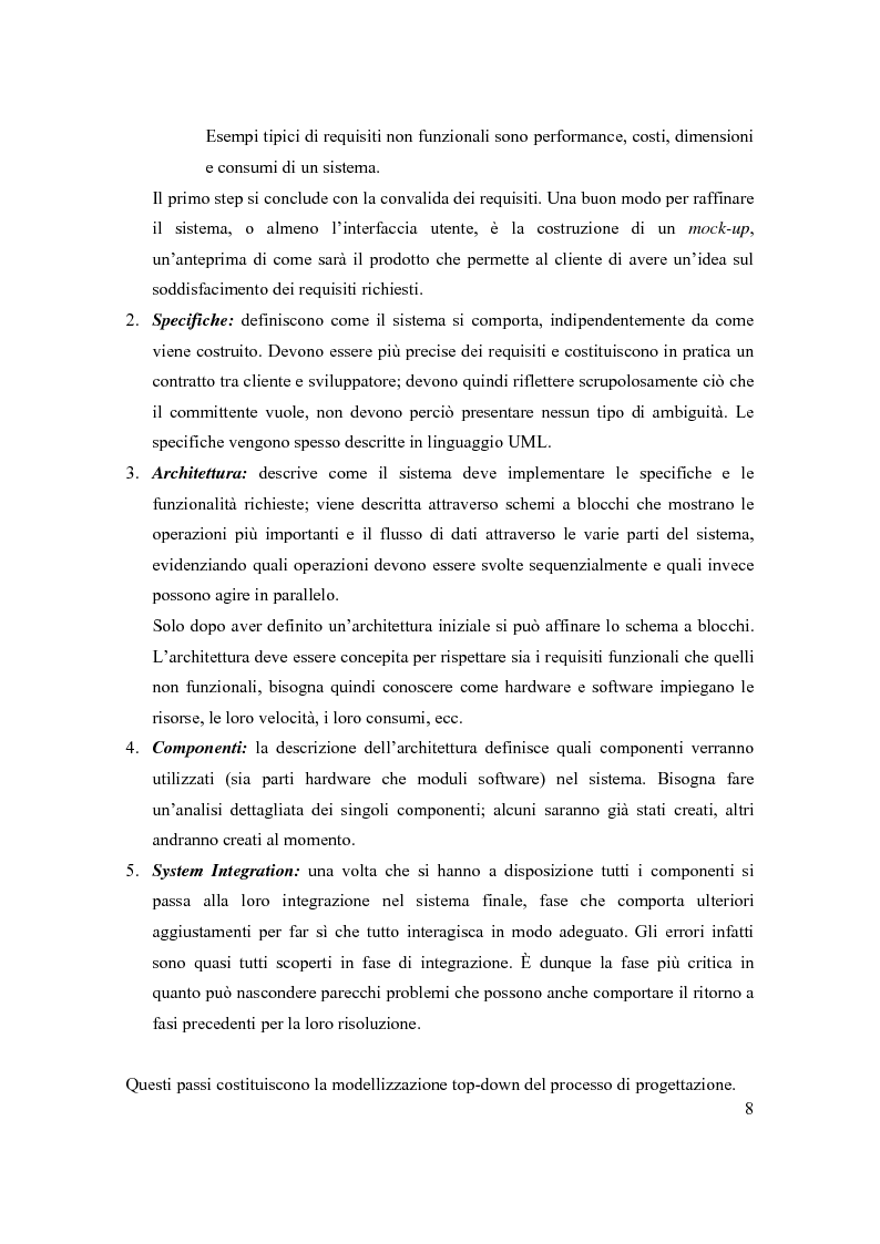 Anteprima della tesi: Principi di progetto di sistemi embedded, Pagina 8