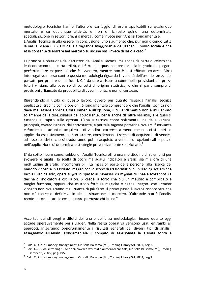 Anteprima della tesi: Analisi tecnica e trading con le opzioni, Pagina 4