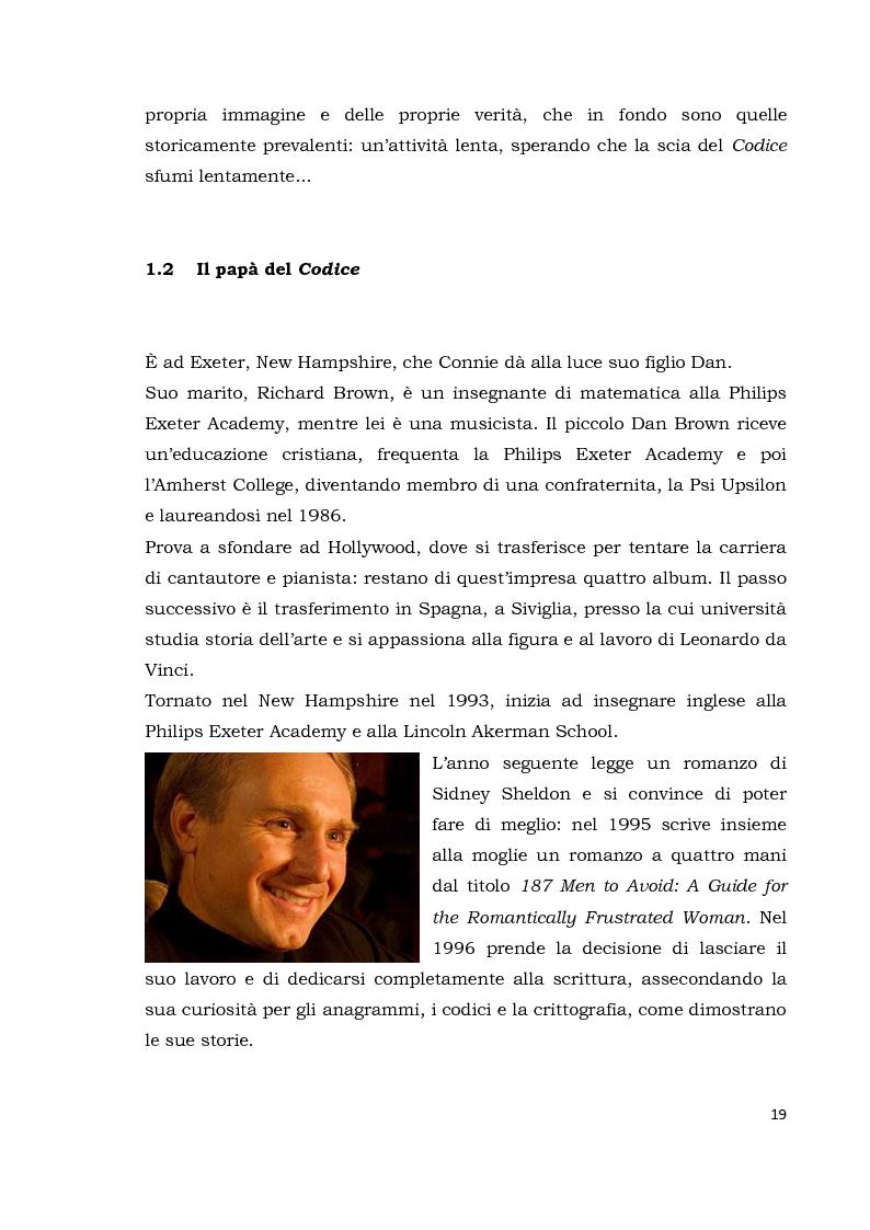 Anteprima della tesi: Il codice da Vinci vs Opus Dei: scontro frontale tra vero, verosimile, fiction e mistero. Dal caso letterario al dibattito mediatico, Pagina 10