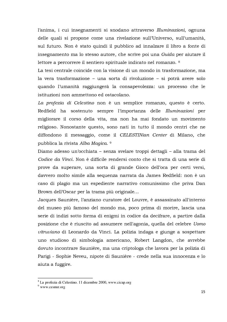 Anteprima della tesi: Il codice da Vinci vs Opus Dei: scontro frontale tra vero, verosimile, fiction e mistero. Dal caso letterario al dibattito mediatico, Pagina 6