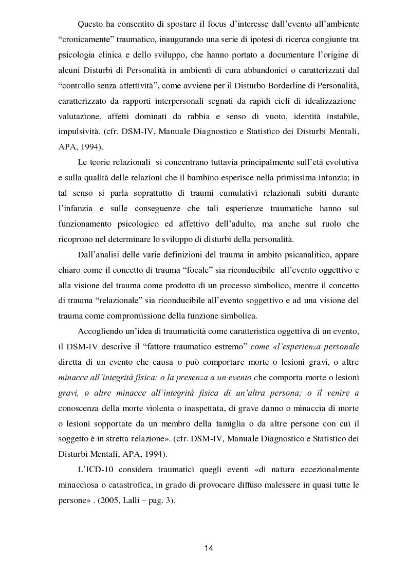 Anteprima della tesi: Il trauma in psicoanalisi: meccanismi di difesa implicati nelle nevrosi post-traumatiche e conseguenze del trauma sulla personalità, Pagina 6