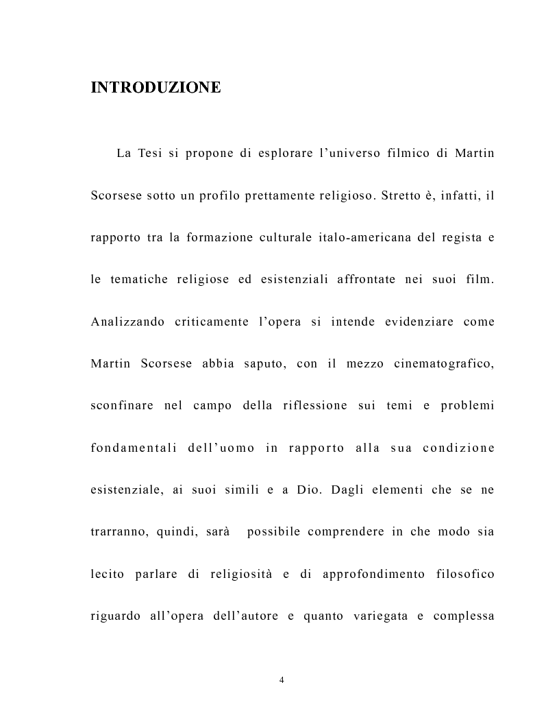 Anteprima della tesi: Martin Scorsese e la critica italiana: la morale e l'iconografia cattolica, Pagina 1