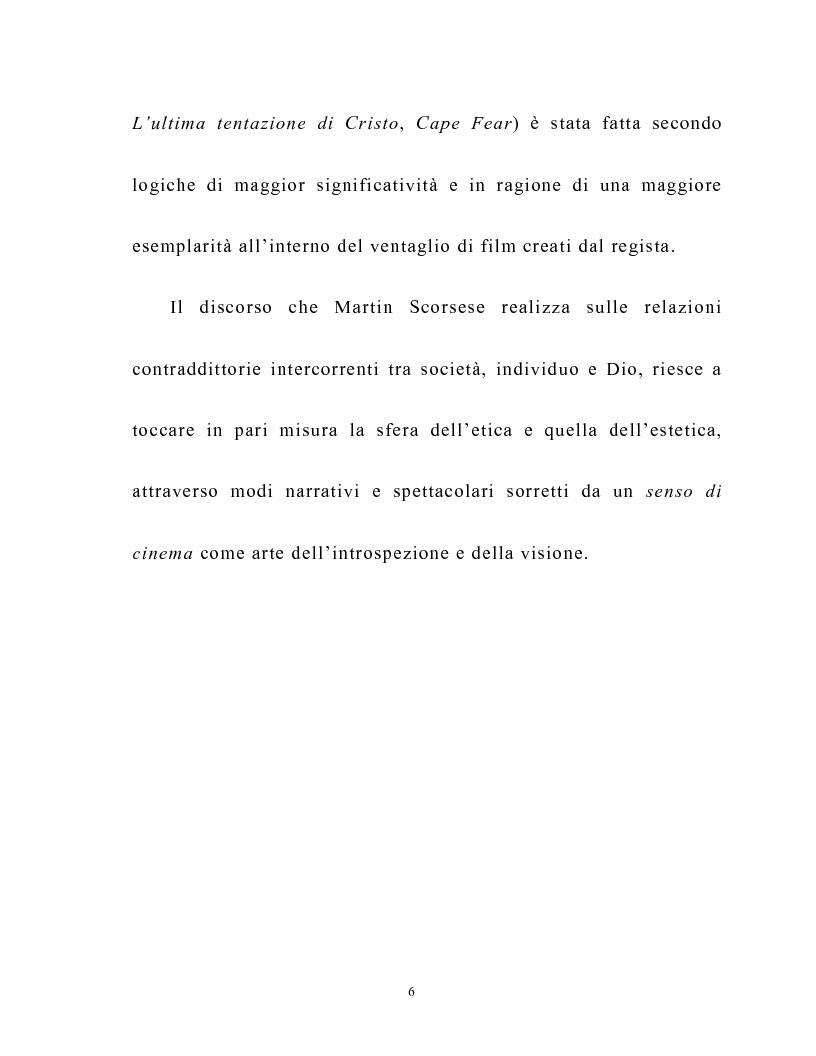 Anteprima della tesi: Martin Scorsese e la critica italiana: la morale e l'iconografia cattolica, Pagina 3