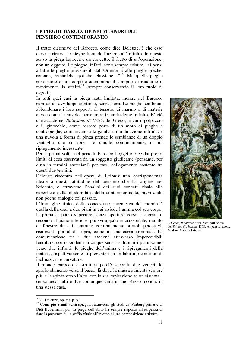 Anteprima della tesi: L'accoglimento del caso ovvero la piega, Pagina 1