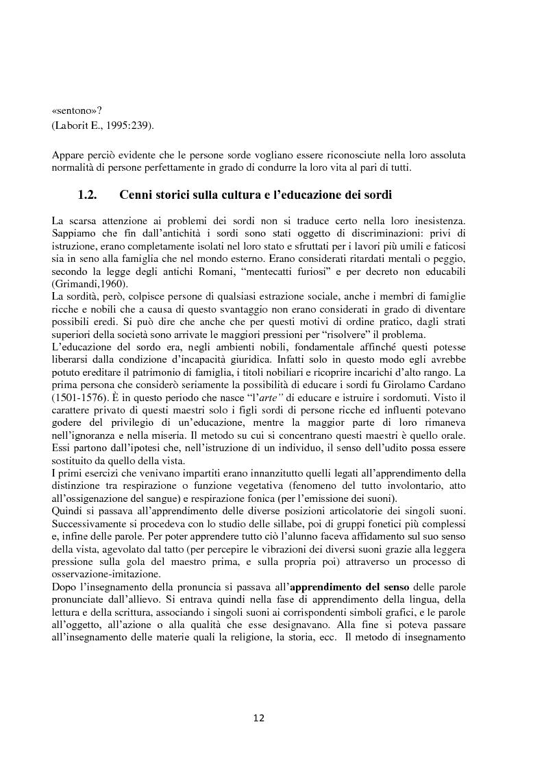 Anteprima della tesi: Lingua dei segni italiana e tedesca: un'analisi comparativa. Il campo semantico dei mestieri e degli animali., Pagina 6
