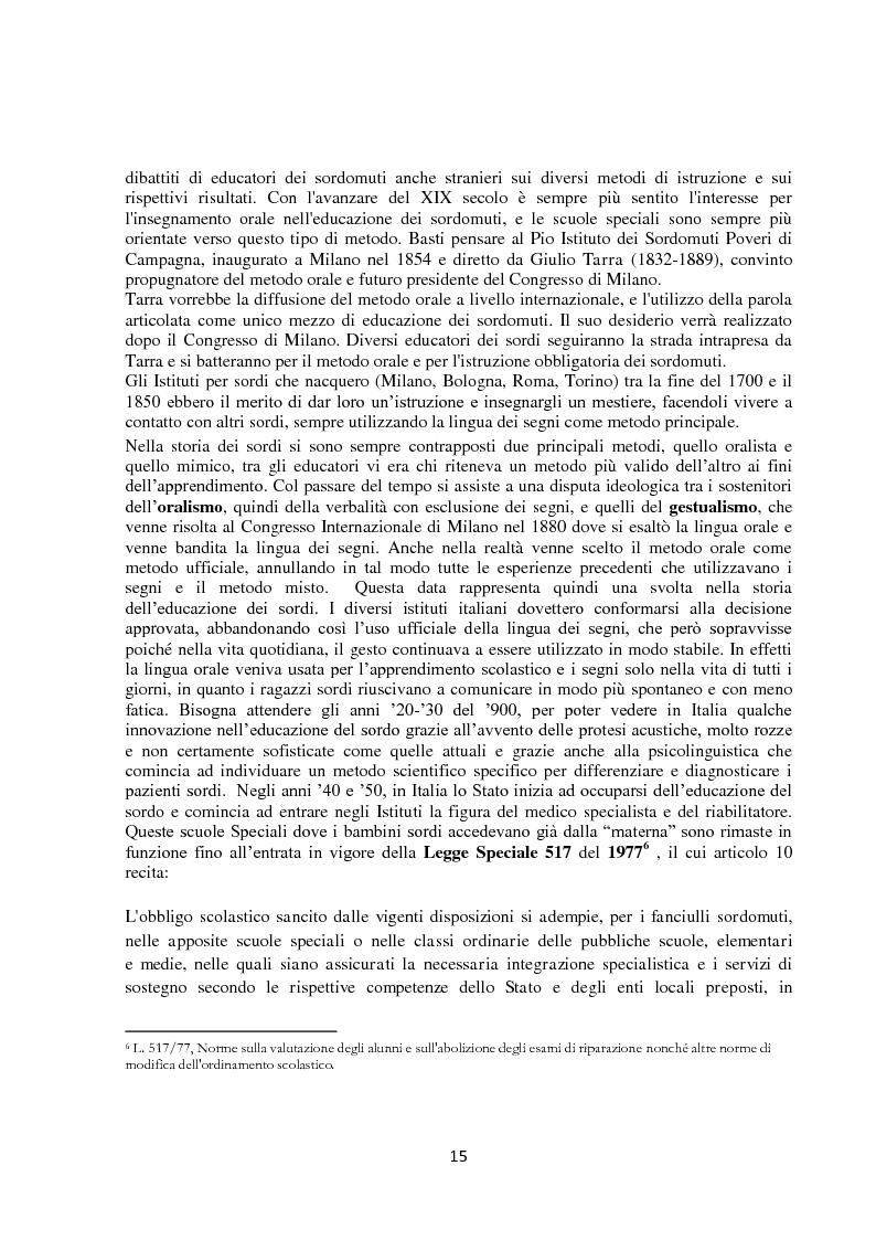 Anteprima della tesi: Lingua dei segni italiana e tedesca: un'analisi comparativa. Il campo semantico dei mestieri e degli animali., Pagina 9