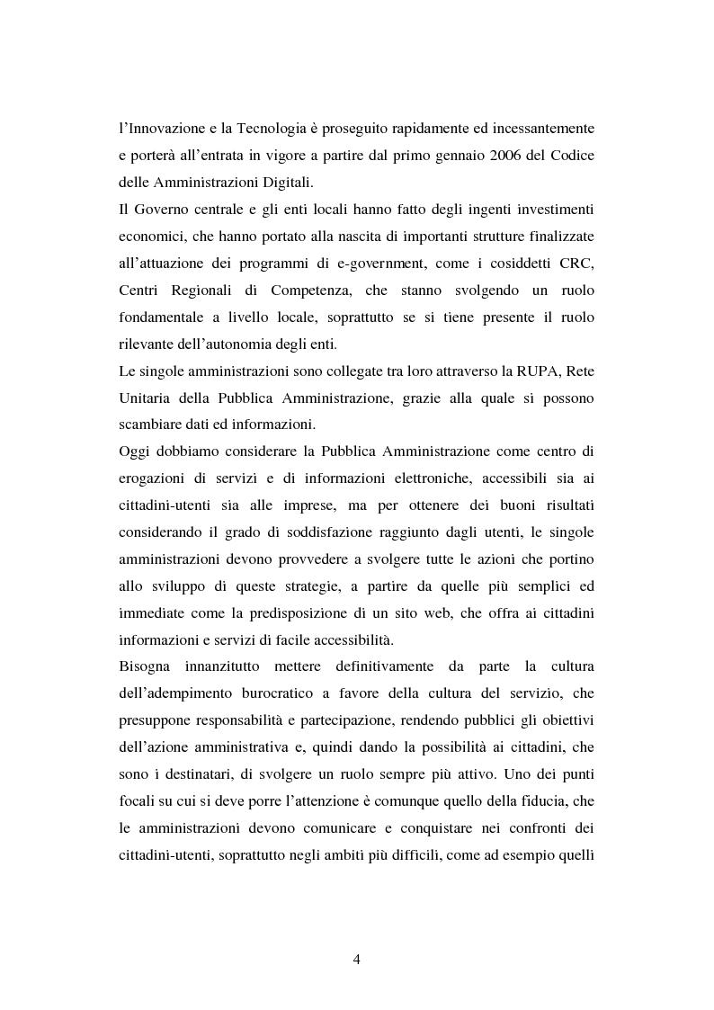 Anteprima della tesi: Erogazione elettronica di servizi (e-government) e informazioni ai cittadini, Pagina 2