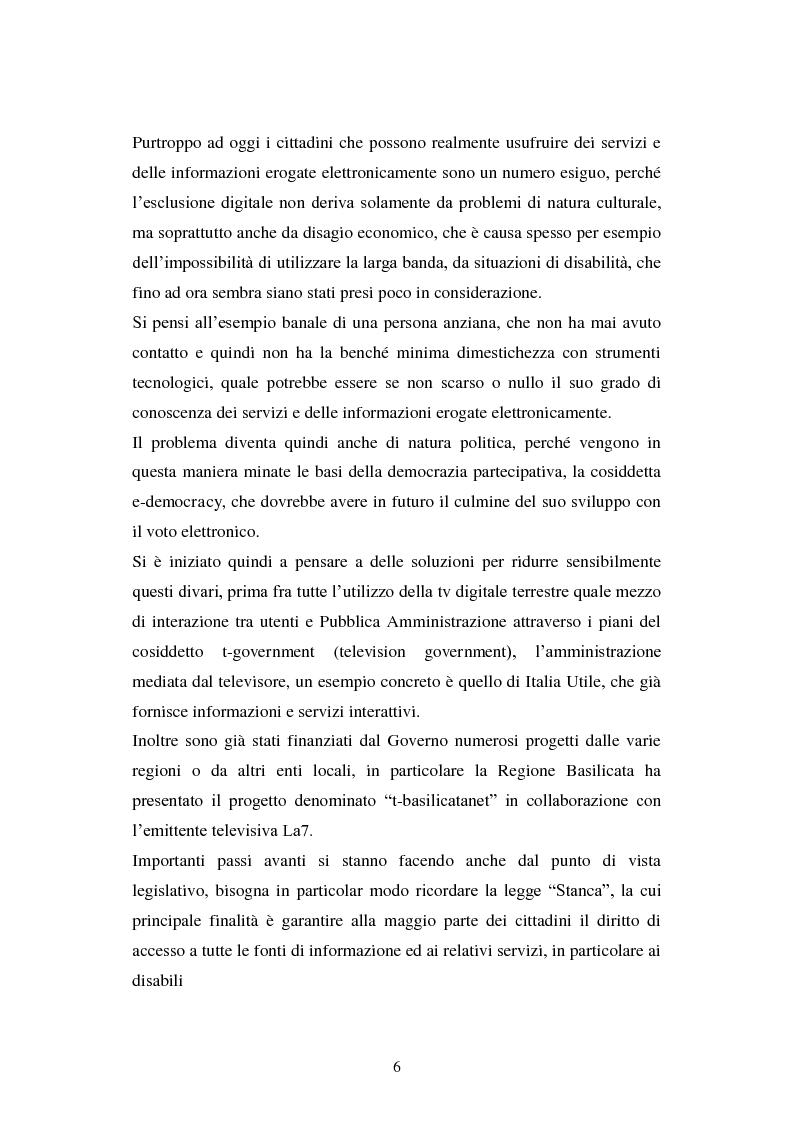 Anteprima della tesi: Erogazione elettronica di servizi (e-government) e informazioni ai cittadini, Pagina 4