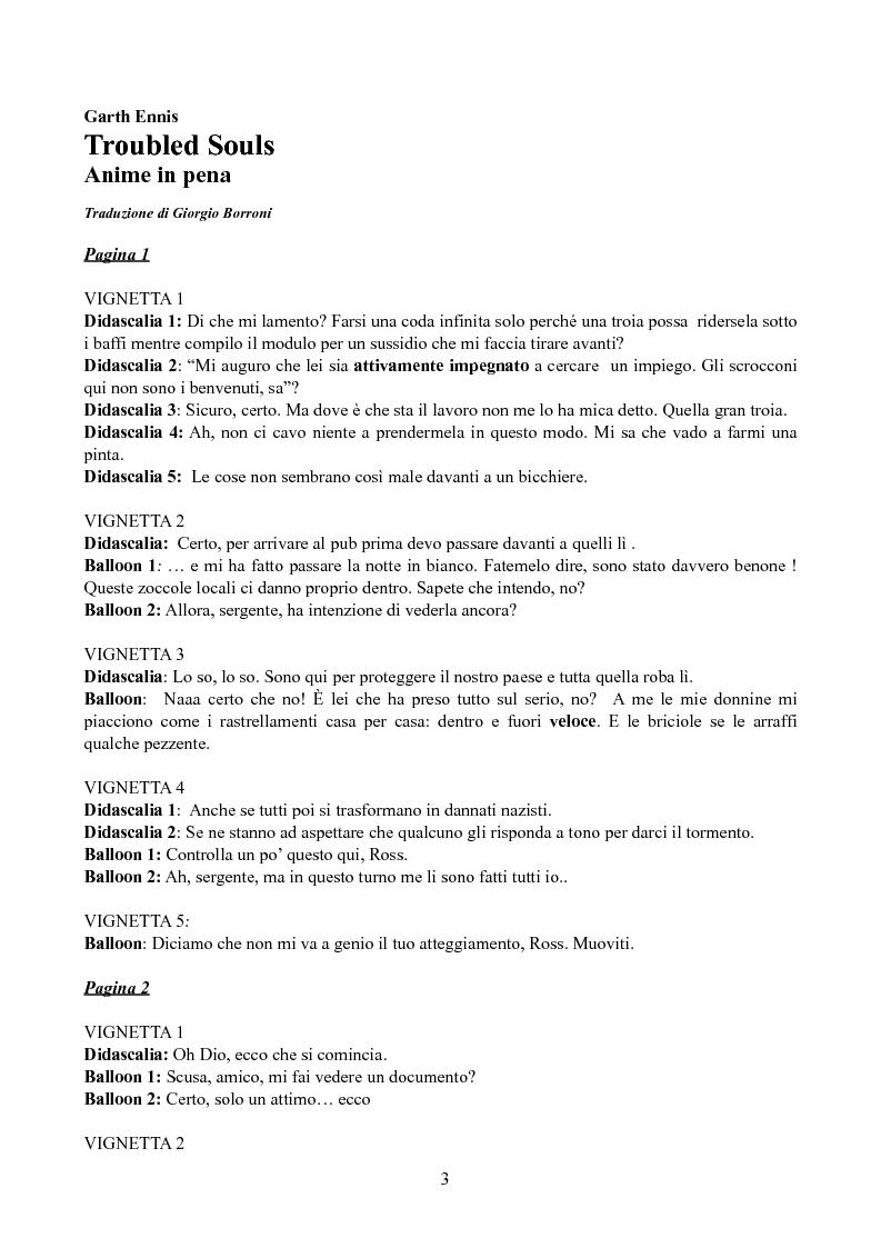 Anteprima della tesi: Tradurre Garth Ennis. La poetica dell'autore irlandese in Troubled Souls., Pagina 1