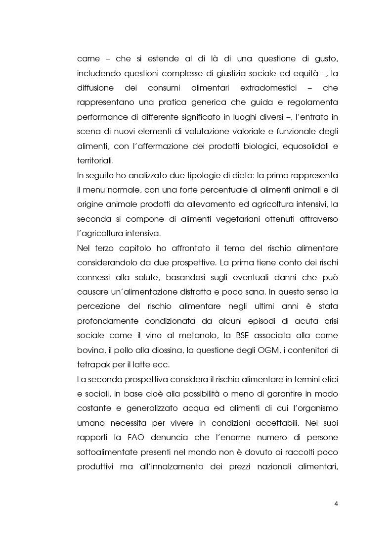 Anteprima della tesi: I consumi alimentari sostenibili e l'attività di Slow Food, Pagina 2