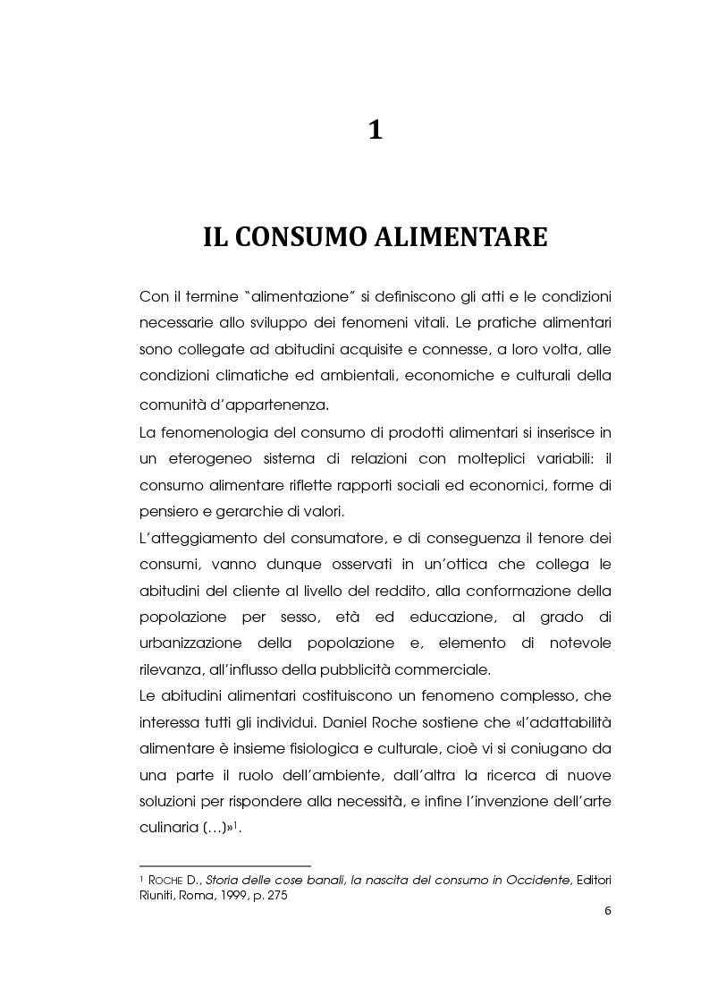 Anteprima della tesi: I consumi alimentari sostenibili e l'attività di Slow Food, Pagina 4