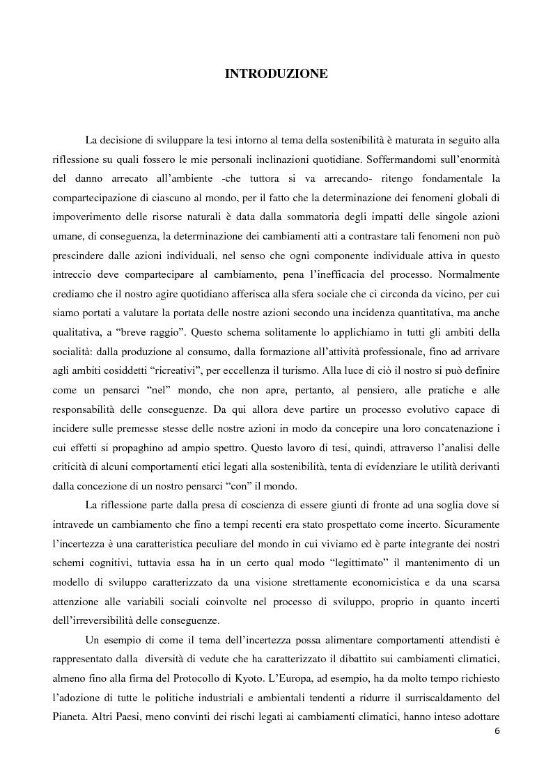 Anteprima della tesi: Il turismo come sostenibilità, come sport e come fenomeno ludico: il caso del cicloturismo, Pagina 3