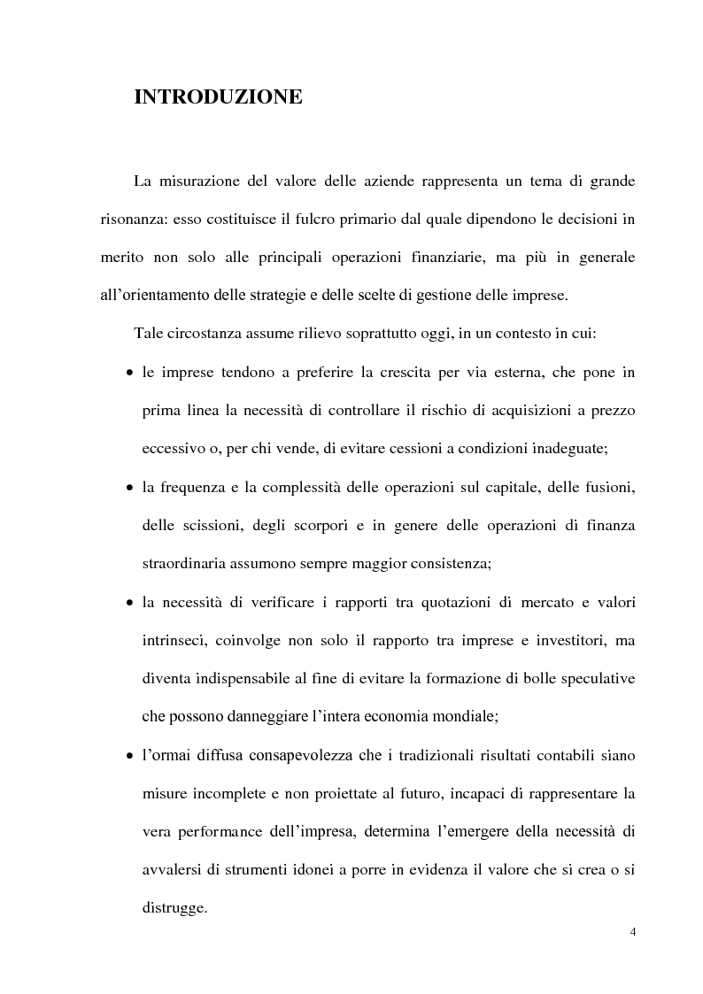 Anteprima della tesi: Il metodo dei multipli nella valutazione delle aziende: il caso delle initial public offering, Pagina 1
