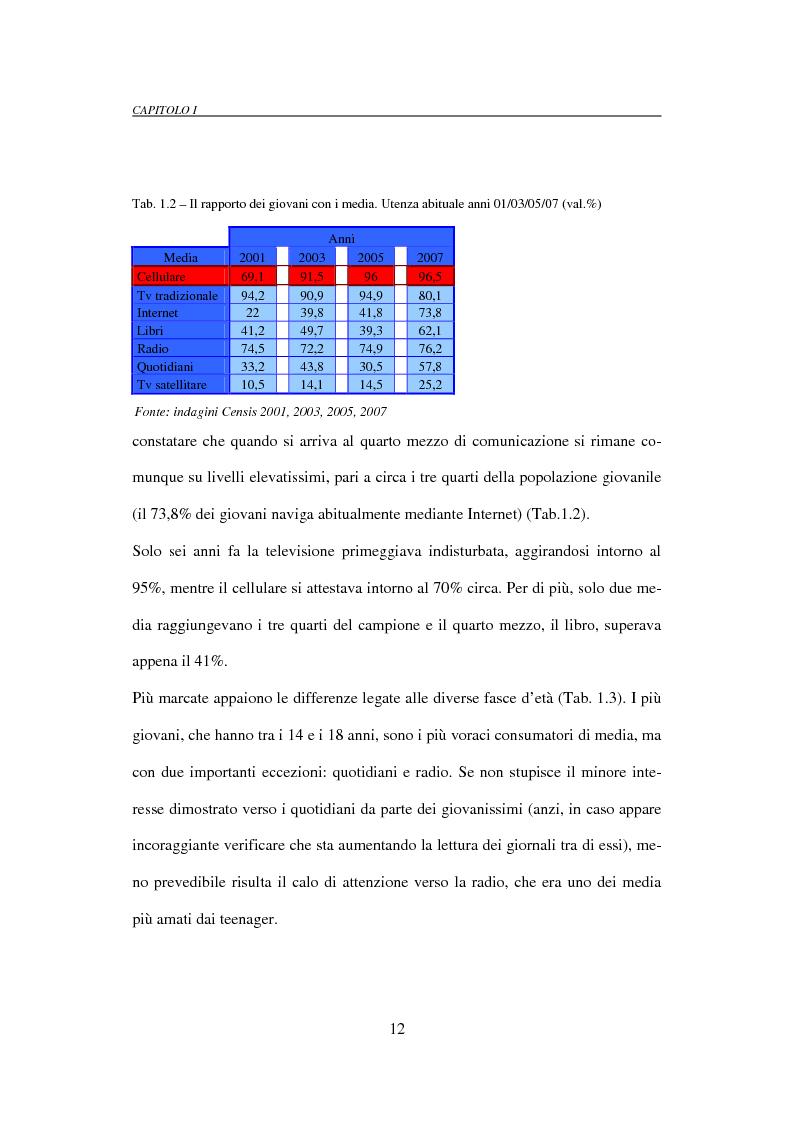 Anteprima della tesi: Il mobile marketing: caratteri, strumenti ed esperienze aziendali, Pagina 12