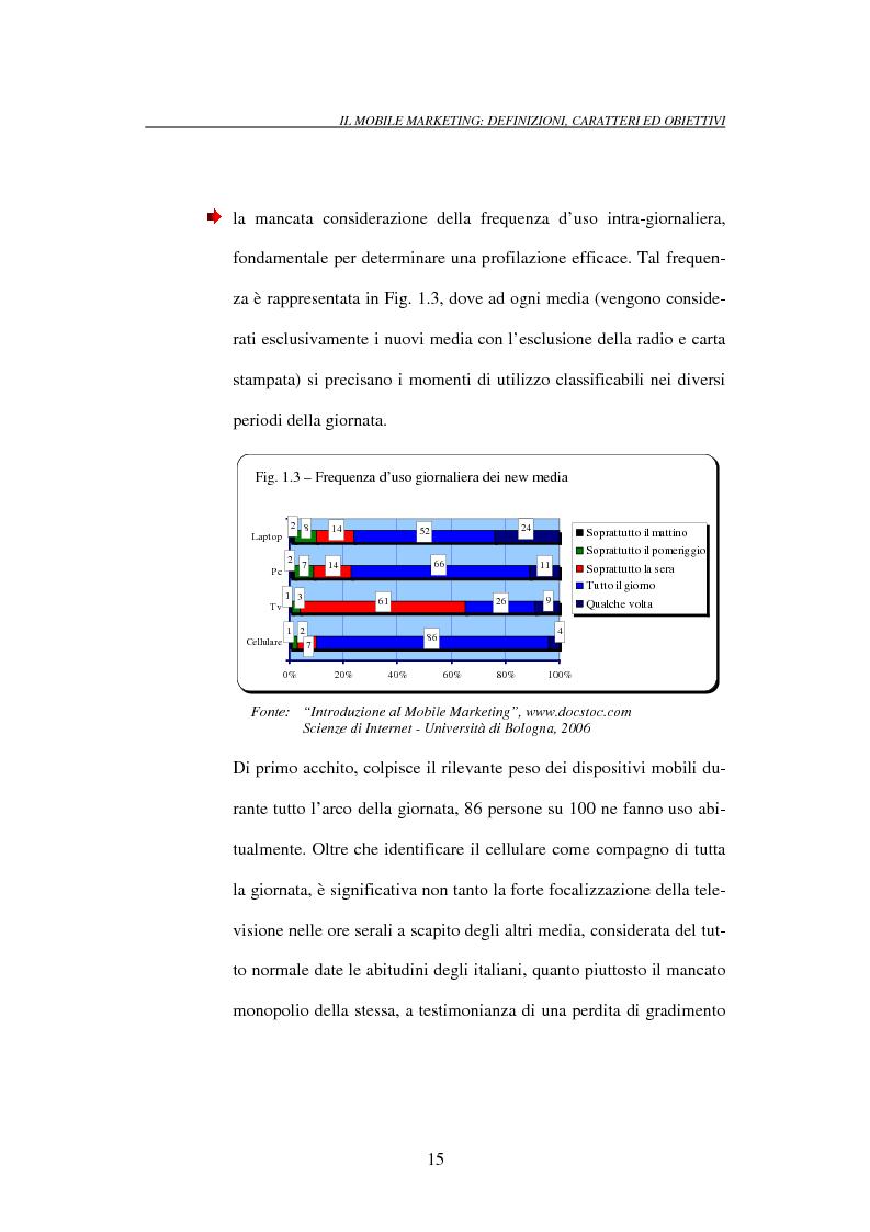 Anteprima della tesi: Il mobile marketing: caratteri, strumenti ed esperienze aziendali, Pagina 15
