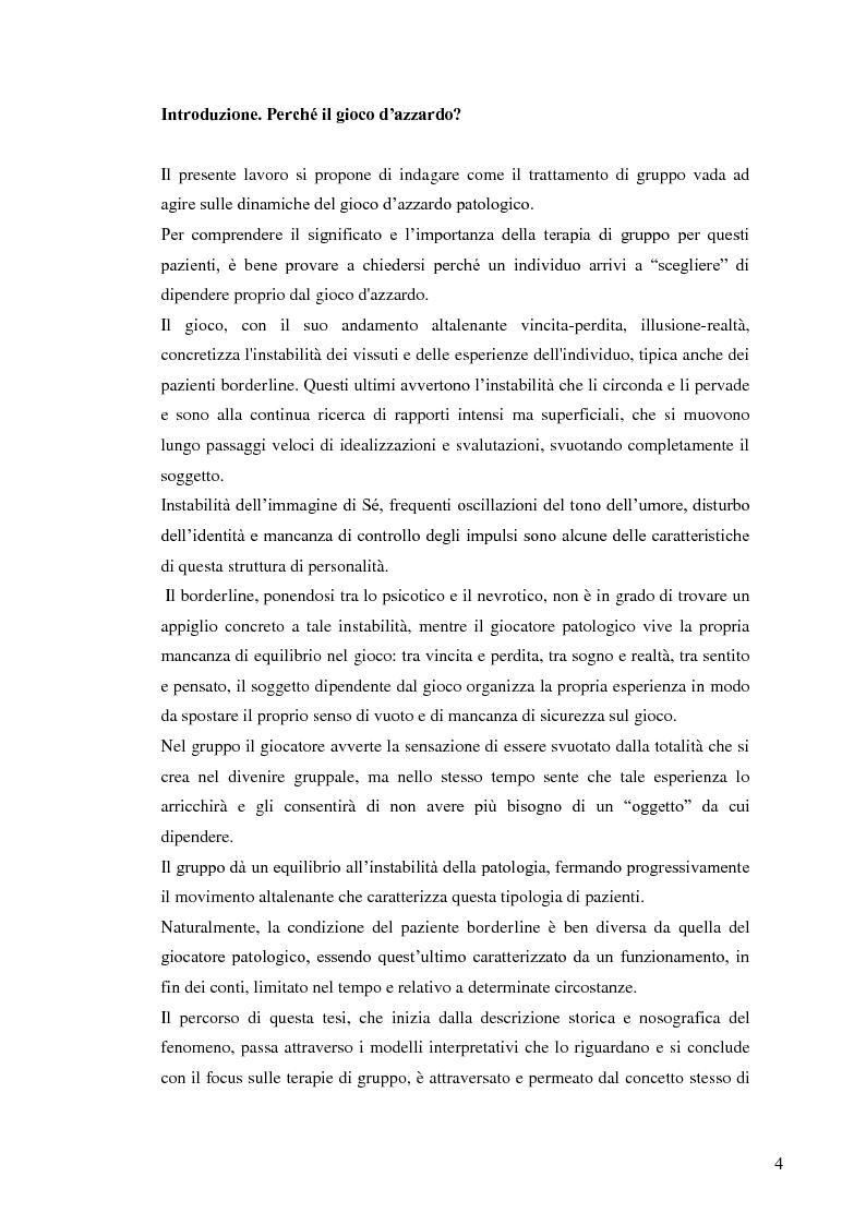 Anteprima della tesi: Gruppo e gioco d'azzardo, Pagina 1