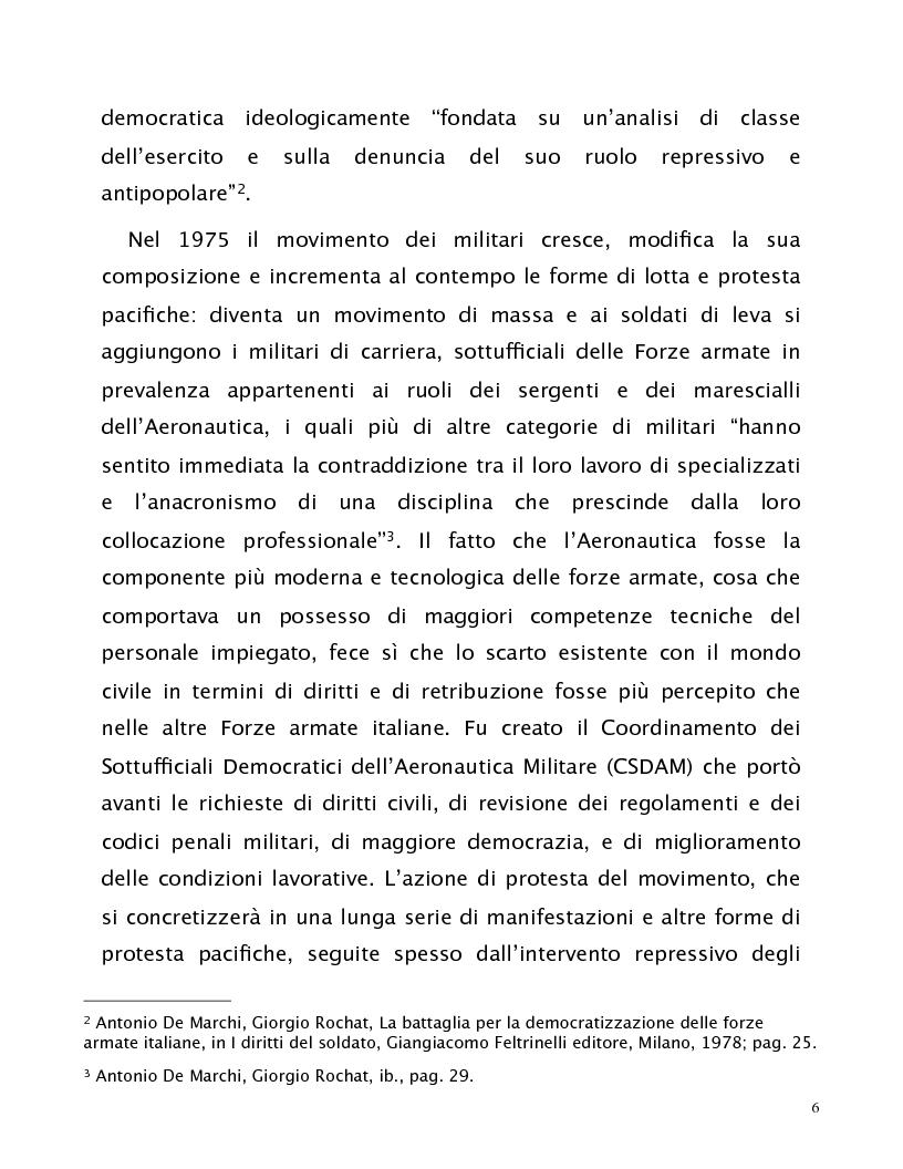 Anteprima della tesi: Comandare nel consenso. La rappresentanza degli interessi del personale nell'organizzazione militare., Pagina 6