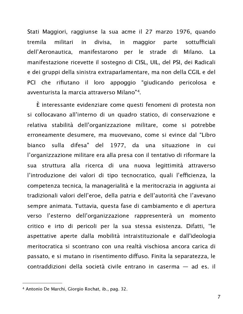 Anteprima della tesi: Comandare nel consenso. La rappresentanza degli interessi del personale nell'organizzazione militare., Pagina 7