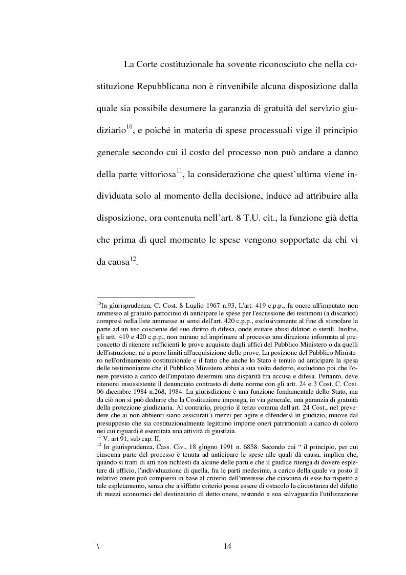Anteprima della tesi: La disciplina delle spese nel processo civile, Pagina 10