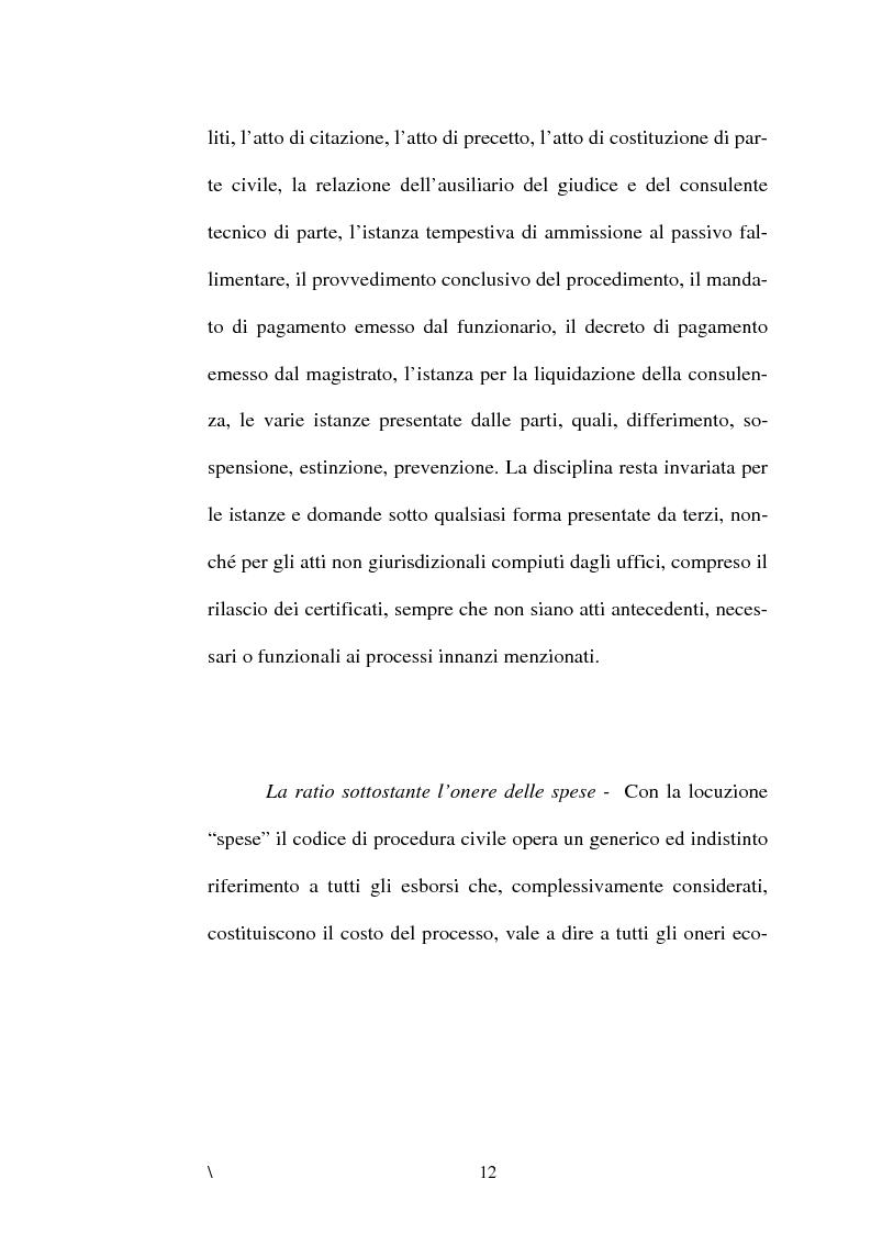 Anteprima della tesi: La disciplina delle spese nel processo civile, Pagina 8