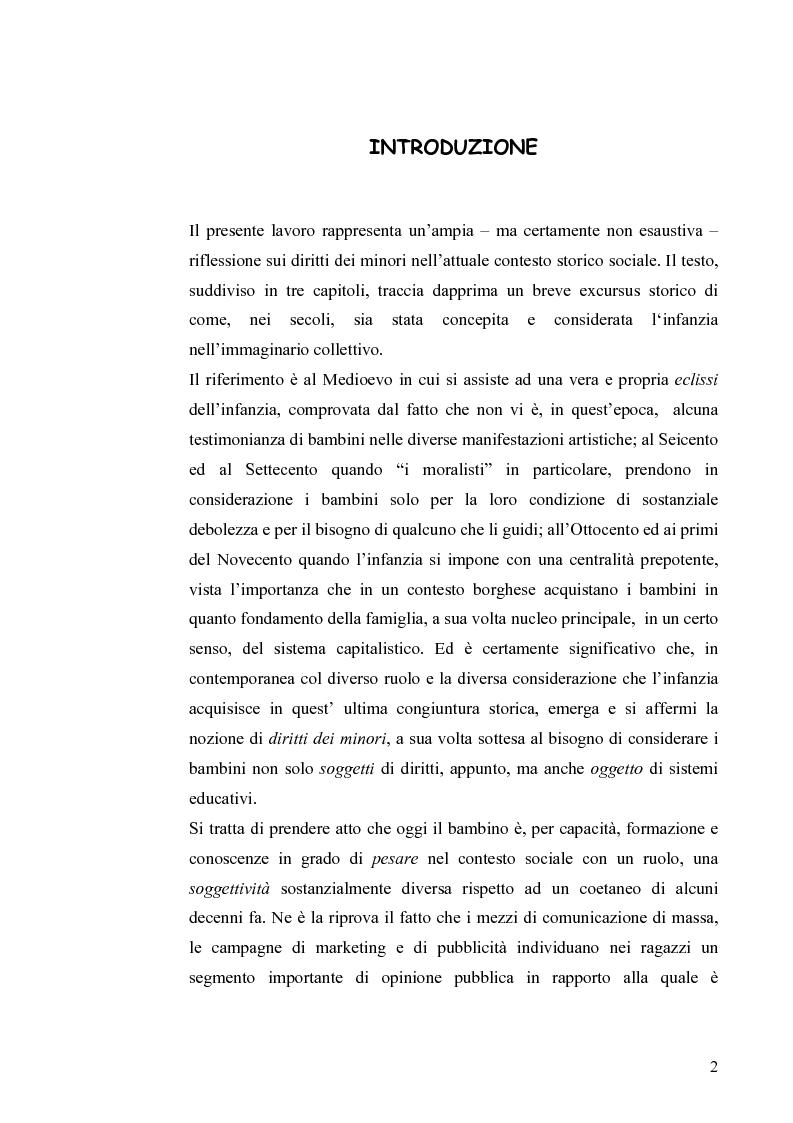 Anteprima della tesi: I diritti dei minori nell'ordinamento giuridico italiano, Pagina 1