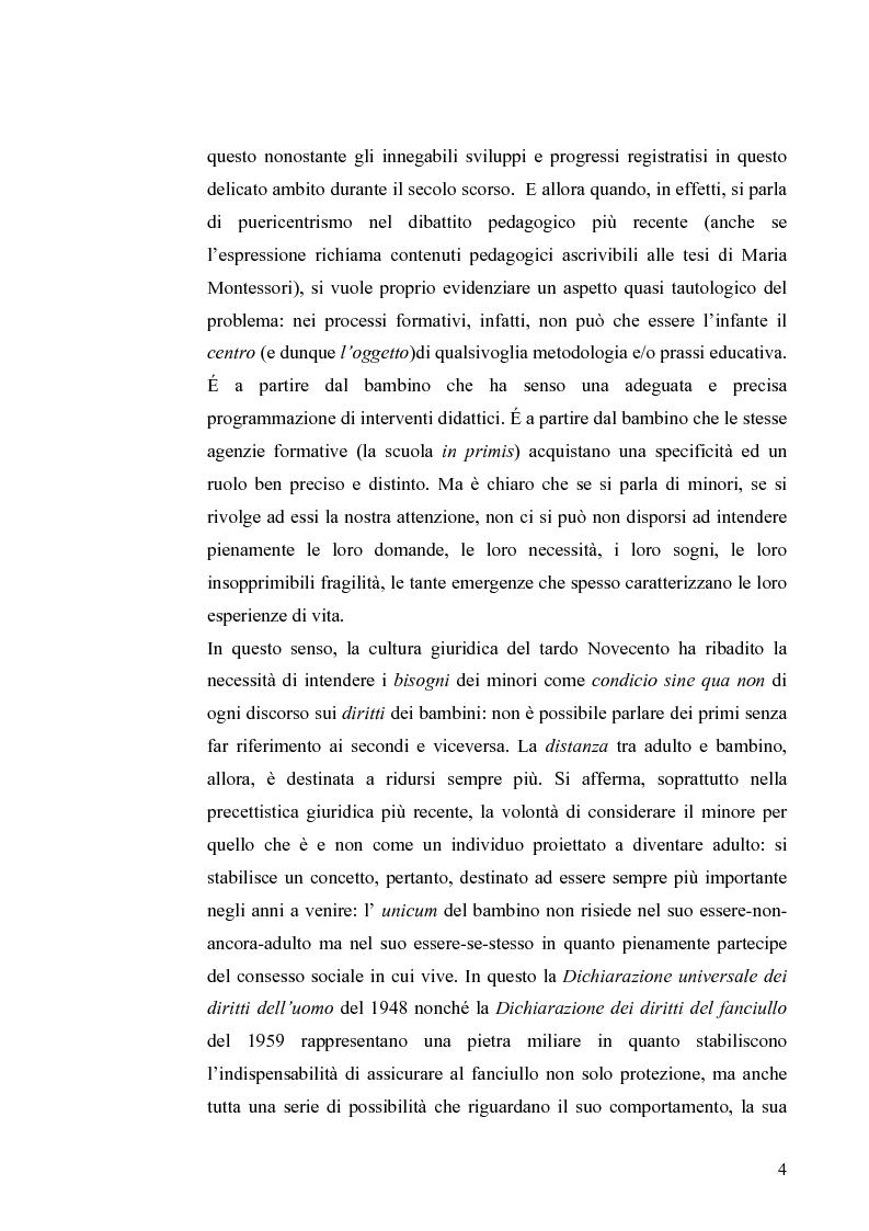 Anteprima della tesi: I diritti dei minori nell'ordinamento giuridico italiano, Pagina 3