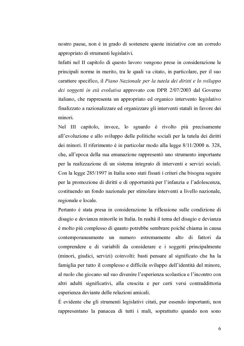 Anteprima della tesi: I diritti dei minori nell'ordinamento giuridico italiano, Pagina 5