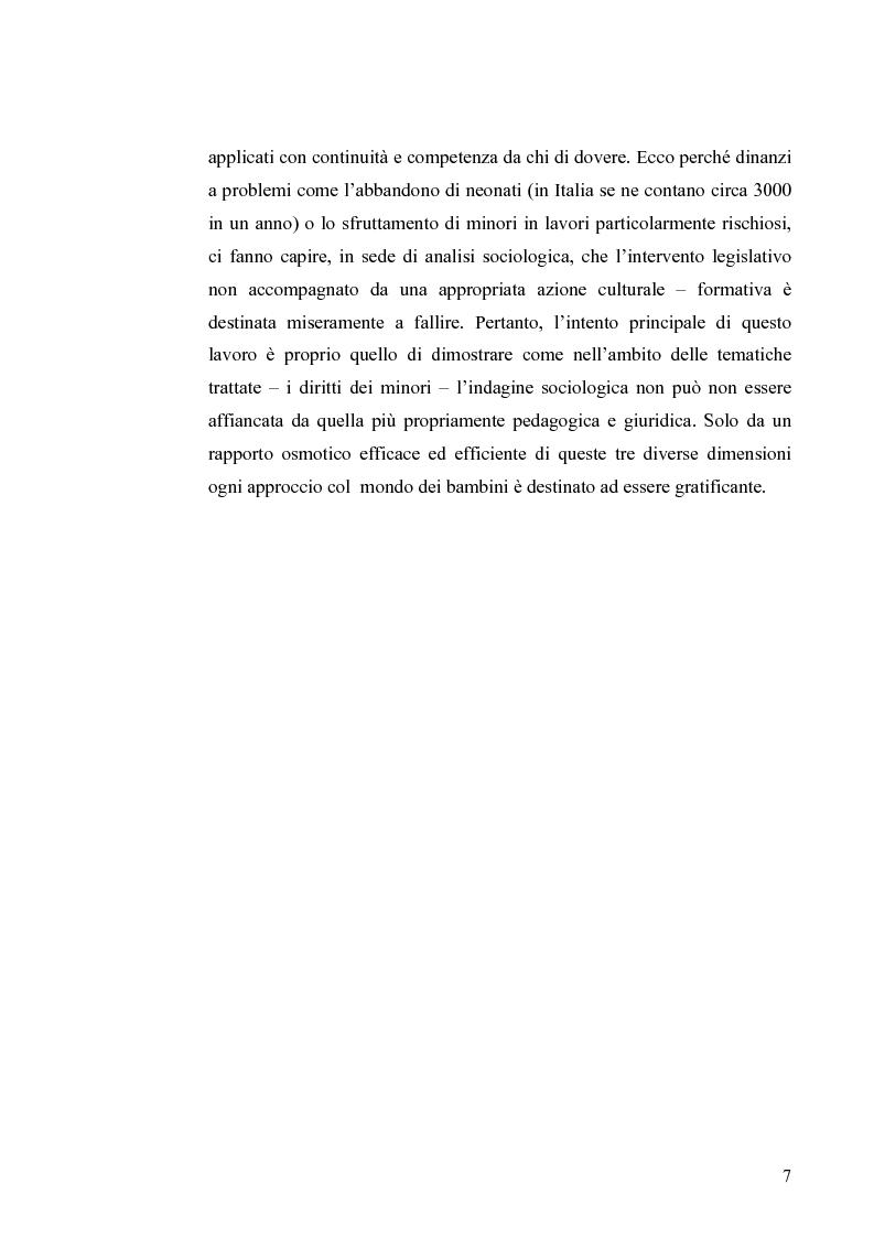 Anteprima della tesi: I diritti dei minori nell'ordinamento giuridico italiano, Pagina 6