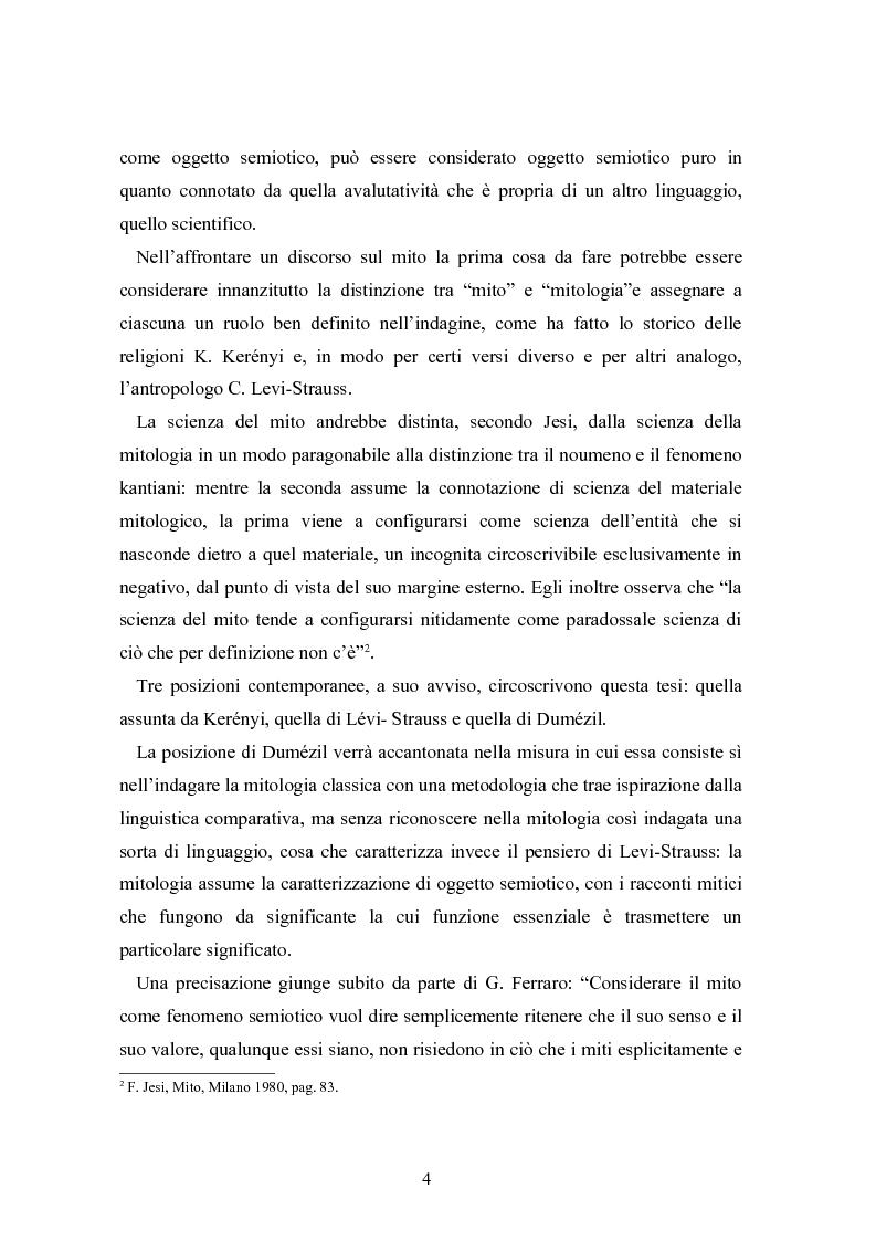 Anteprima della tesi: Mitologia, mito e mito dell'uomo in Karoly Kerenyi, Pagina 2