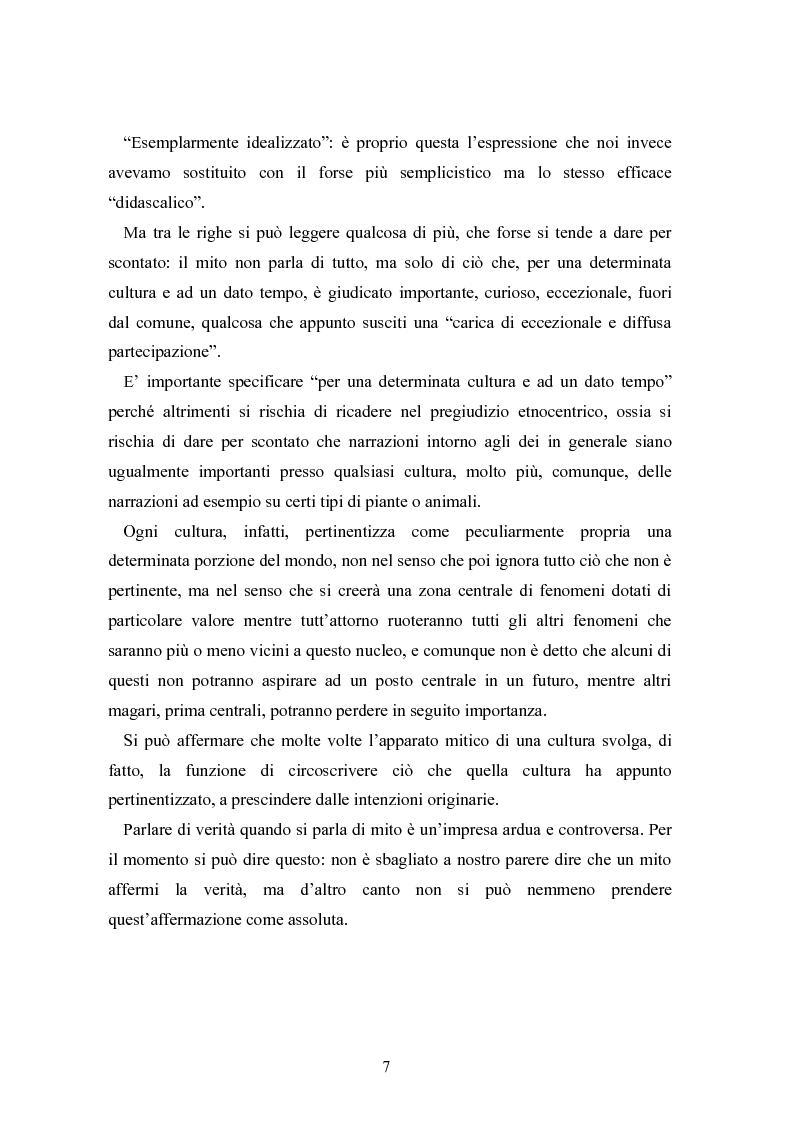 Anteprima della tesi: Mitologia, mito e mito dell'uomo in Karoly Kerenyi, Pagina 5