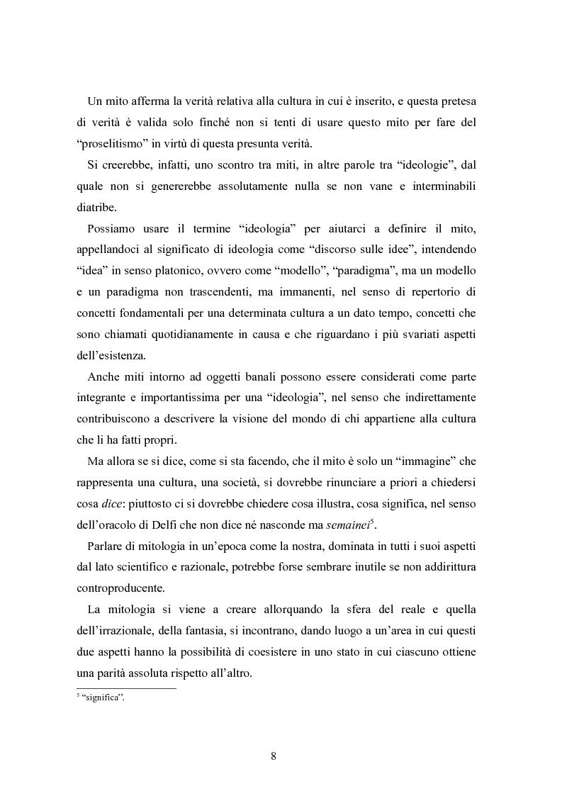 Anteprima della tesi: Mitologia, mito e mito dell'uomo in Karoly Kerenyi, Pagina 6