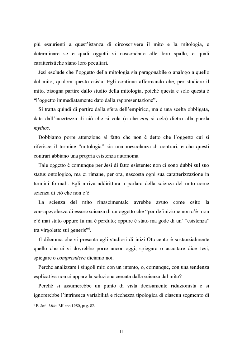 Anteprima della tesi: Mitologia, mito e mito dell'uomo in Karoly Kerenyi, Pagina 9