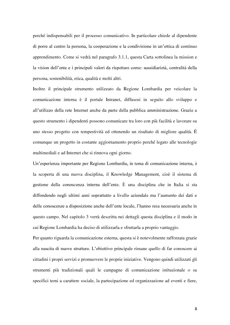 Anteprima della tesi: La comunicazione pubblica e istituzionale di Regione Lombardia, Pagina 6