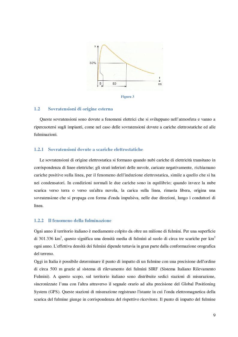 Anteprima della tesi: Protezione dalle sovratensioni: analisi, scelta e dimensionamento degli SPD, Pagina 5