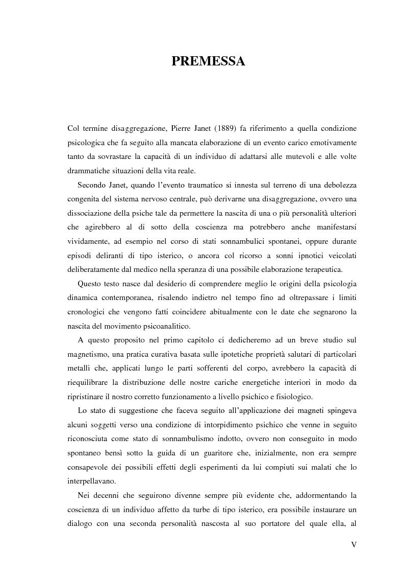 Anteprima della tesi: Pierre Janet, le origini della disaggregazione psicologica, Pagina 1