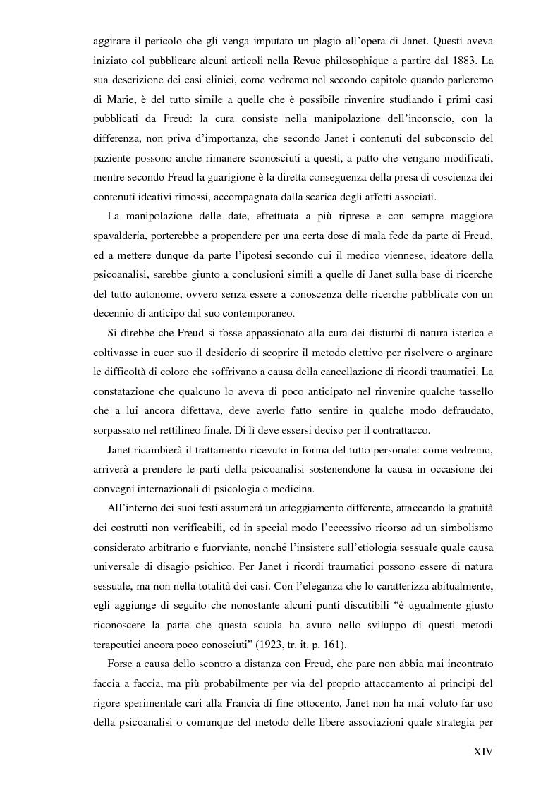 Anteprima della tesi: Pierre Janet, le origini della disaggregazione psicologica, Pagina 10