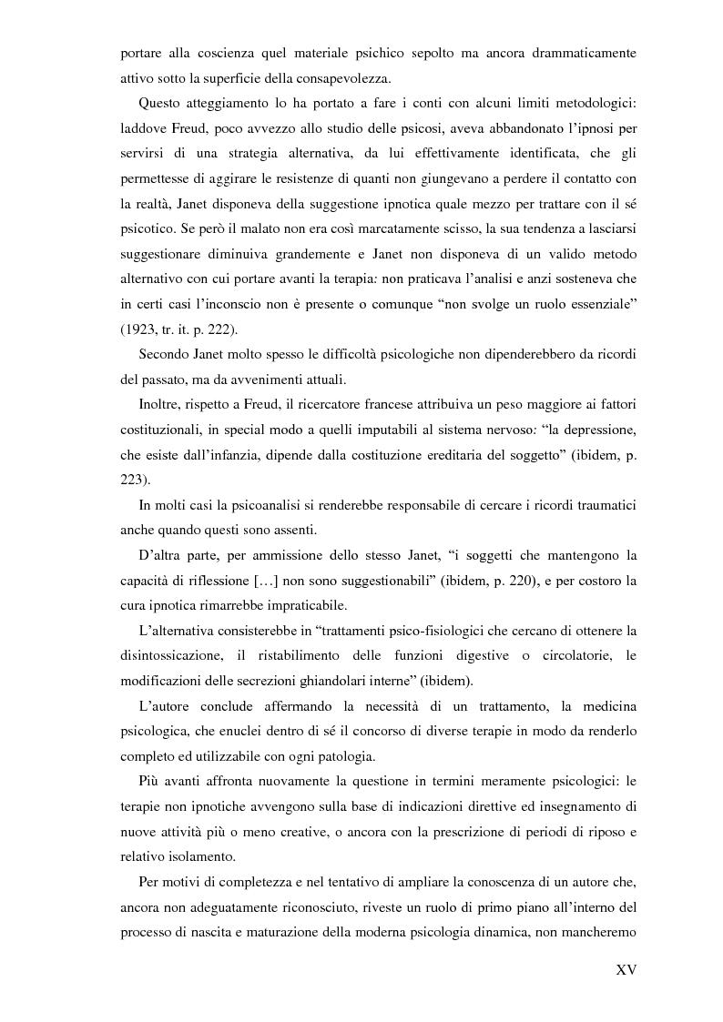 Anteprima della tesi: Pierre Janet, le origini della disaggregazione psicologica, Pagina 11