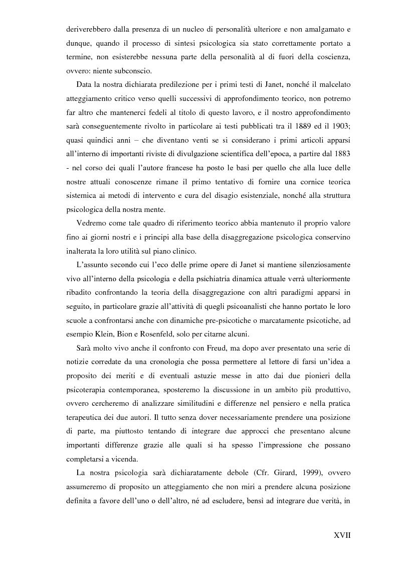 Anteprima della tesi: Pierre Janet, le origini della disaggregazione psicologica, Pagina 13