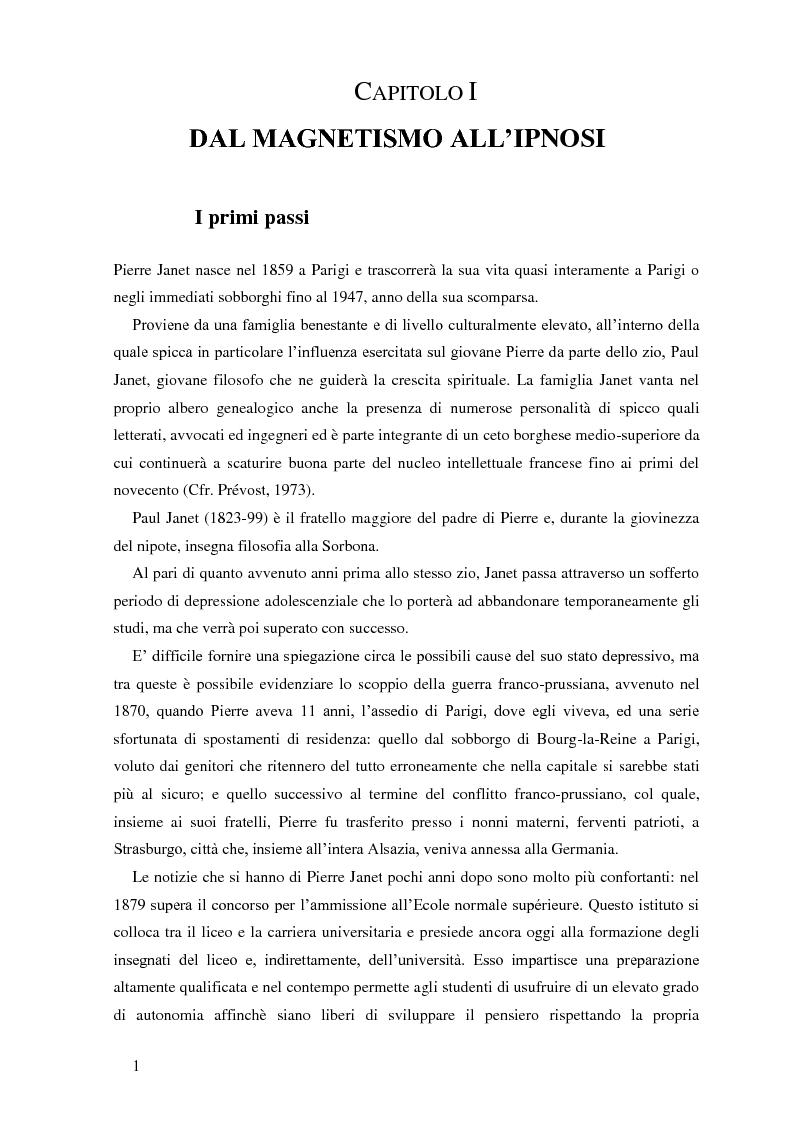 Anteprima della tesi: Pierre Janet, le origini della disaggregazione psicologica, Pagina 15