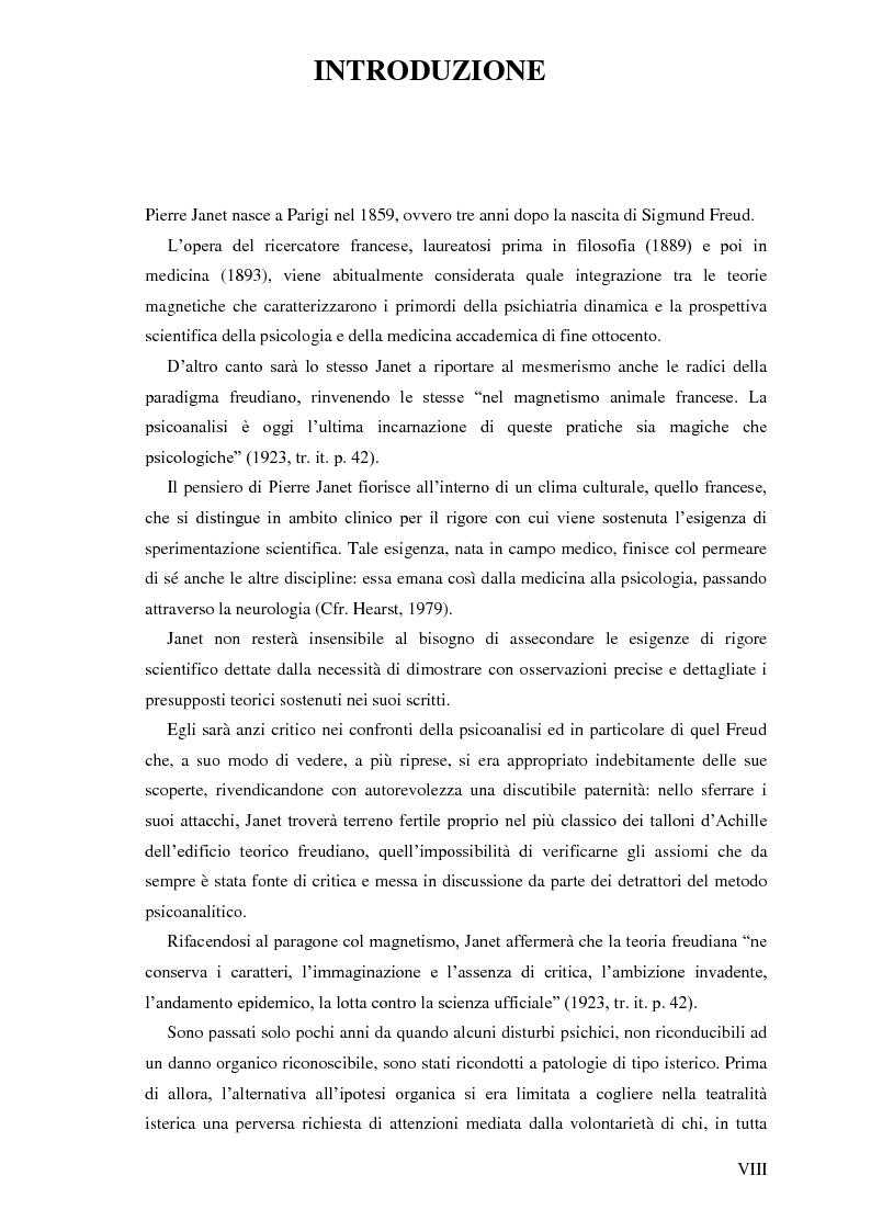 Anteprima della tesi: Pierre Janet, le origini della disaggregazione psicologica, Pagina 4