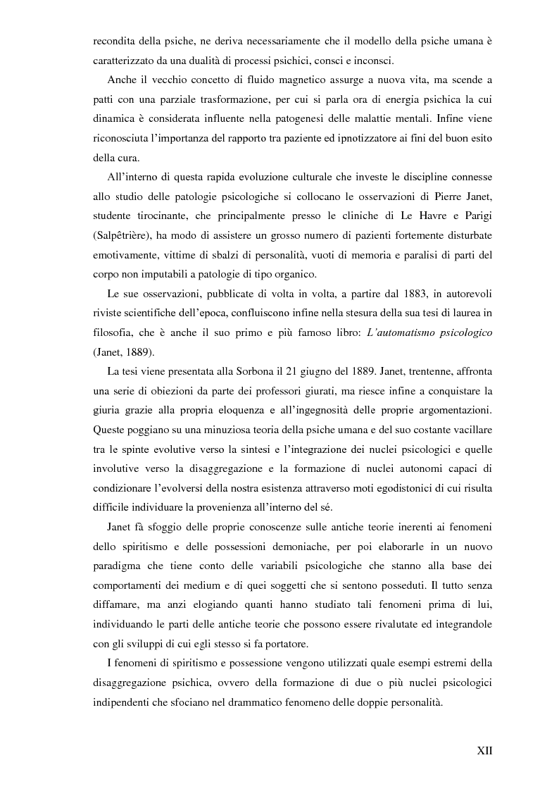 Anteprima della tesi: Pierre Janet, le origini della disaggregazione psicologica, Pagina 8