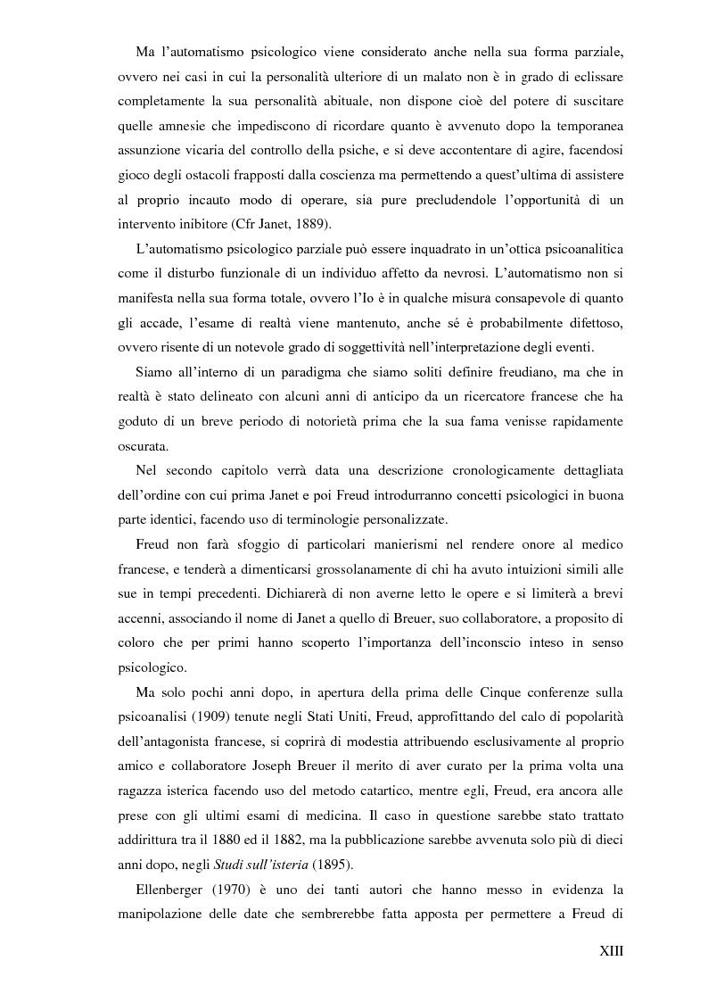 Anteprima della tesi: Pierre Janet, le origini della disaggregazione psicologica, Pagina 9