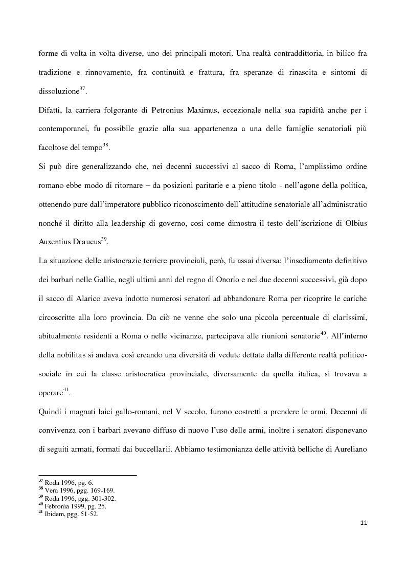 Anteprima della tesi: Valentiniano III e gli Unni, Pagina 11