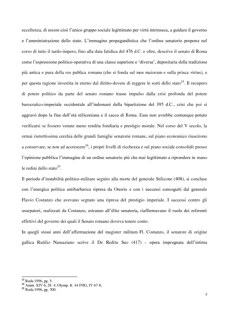 Anteprima della tesi: Valentiniano III e gli Unni, Pagina 7