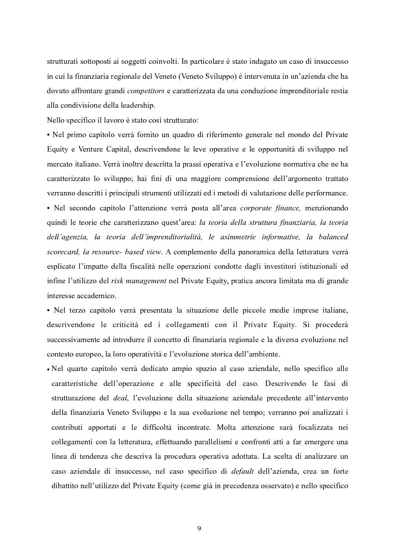 Anteprima della tesi: Il Private Equity nelle finanziarie regionali: un caso di insuccesso, Pagina 3