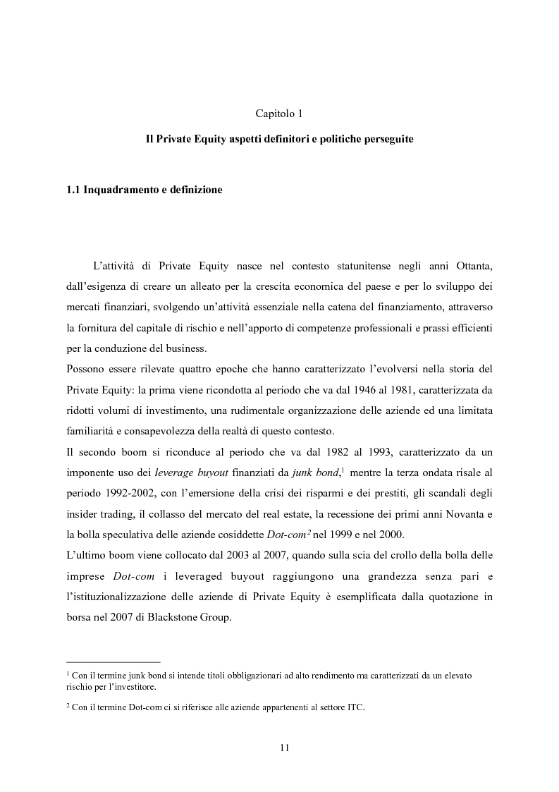 Anteprima della tesi: Il Private Equity nelle finanziarie regionali: un caso di insuccesso, Pagina 5
