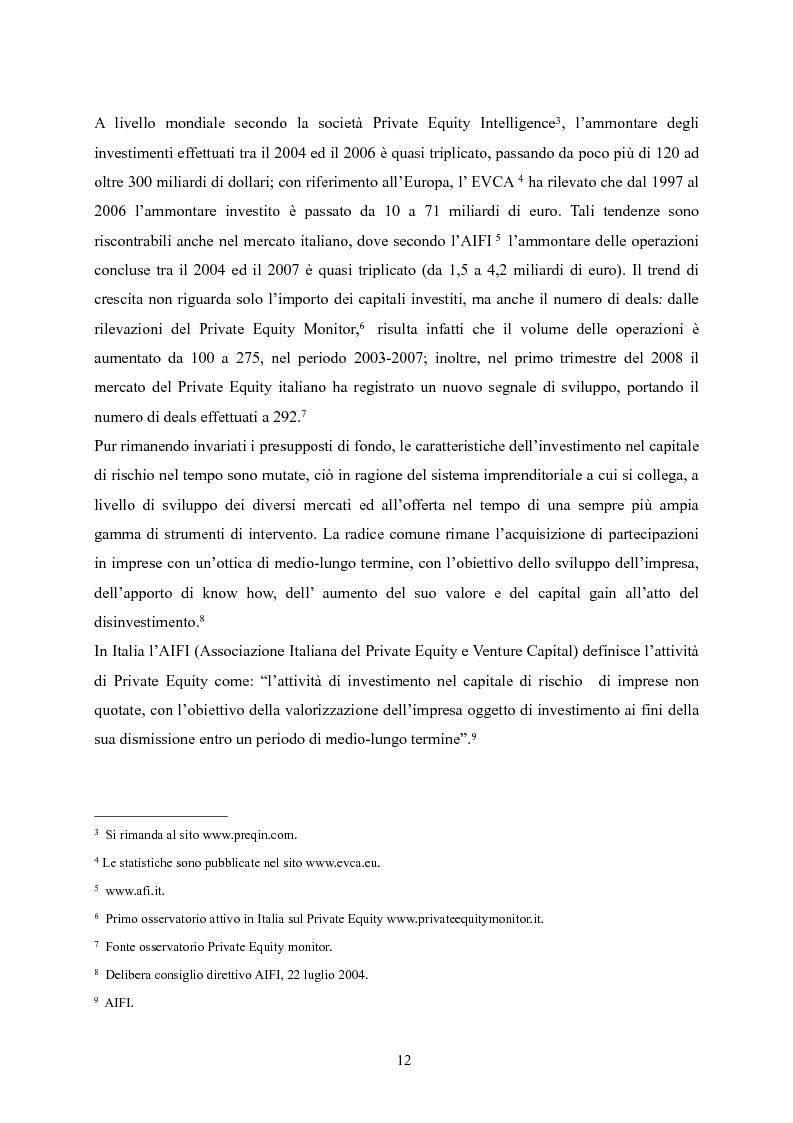 Anteprima della tesi: Il Private Equity nelle finanziarie regionali: un caso di insuccesso, Pagina 6