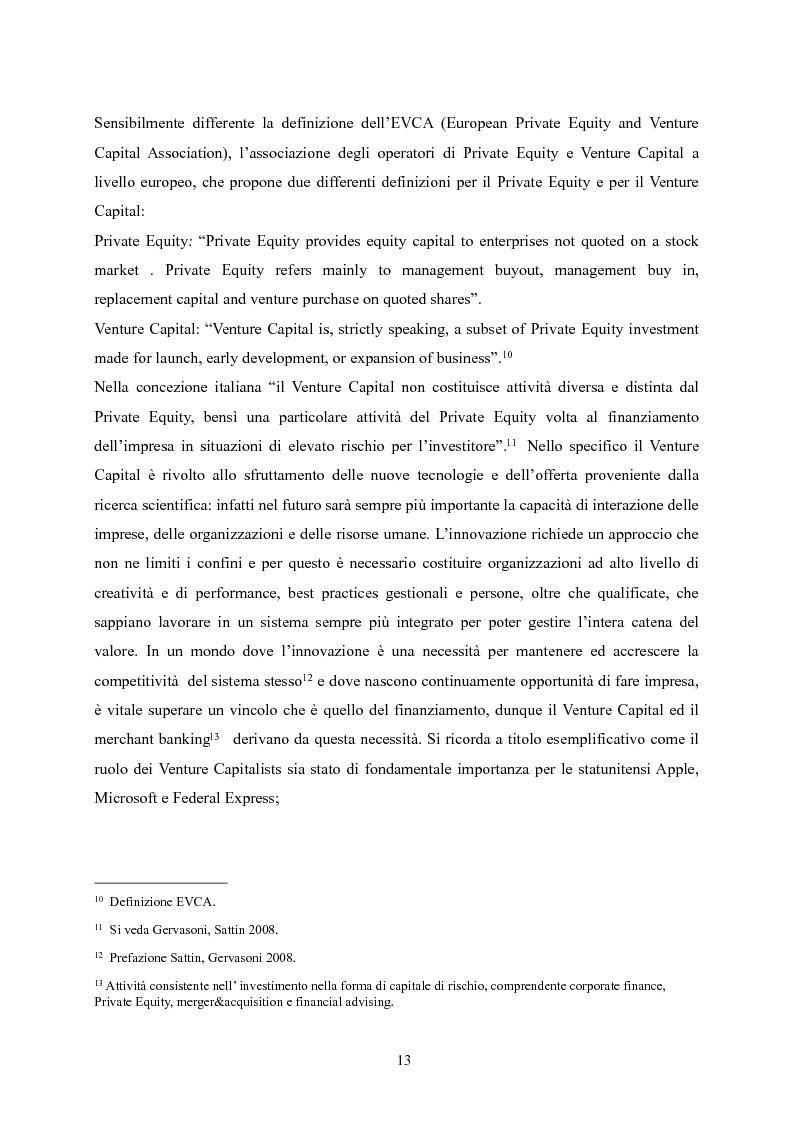 Anteprima della tesi: Il Private Equity nelle finanziarie regionali: un caso di insuccesso, Pagina 7