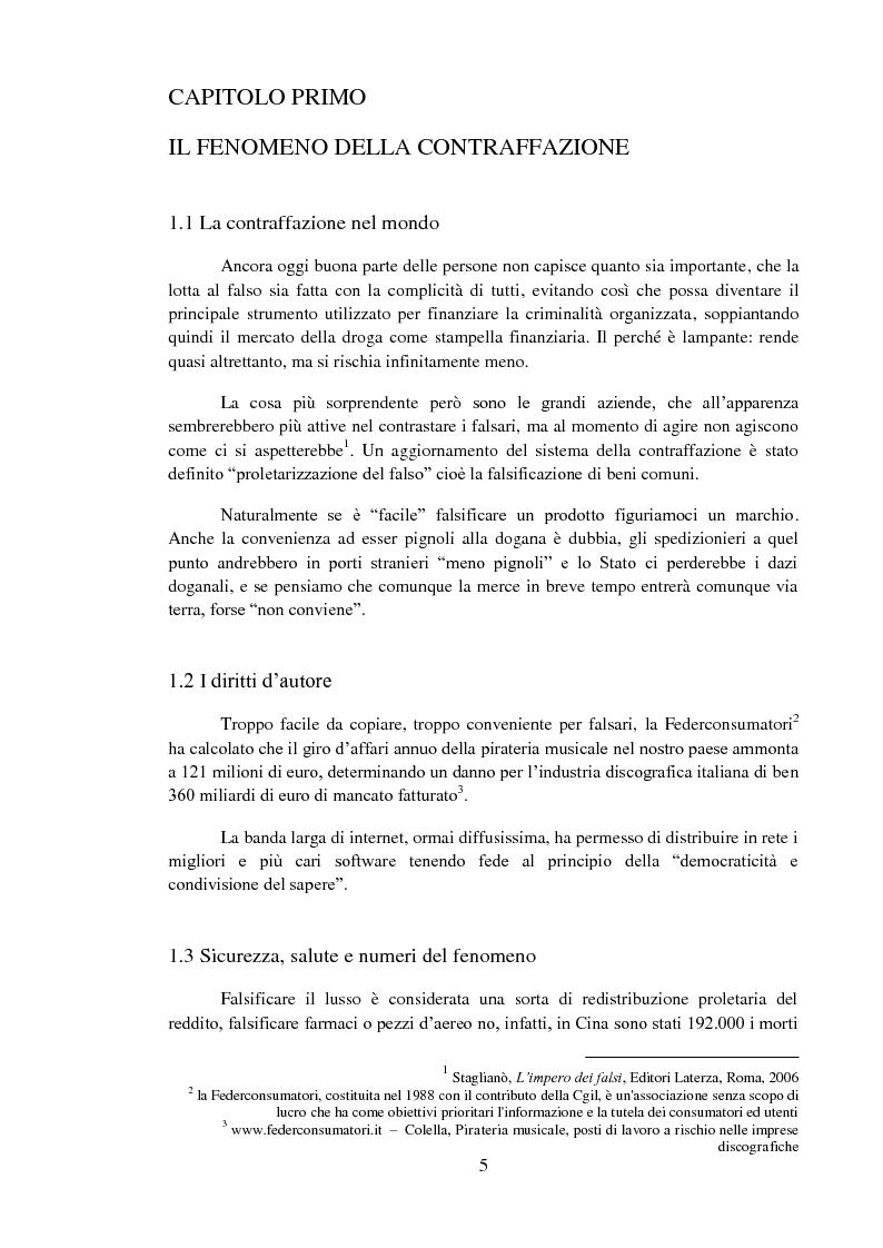 Anteprima della tesi: La tutela del marchio, Pagina 1